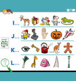first letter a word educational activity vector image vector image