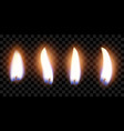 flame of four candles with the effect of vector image