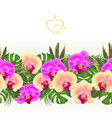 floral border seamless background bouquet vector image vector image