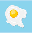 fried egg flat icon vector image vector image