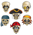 funny pirate skull vector image