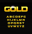 golden alphabet bold headline letters with serif vector image