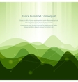 Green Abstract Background from Waves vector image vector image