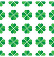 green shamrock seamless pattern background of vector image vector image