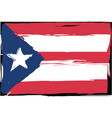 grunge puerto rico flag or banner vector image