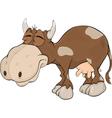 Happy cow vector image
