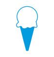 ice cream sweet cold frozen dessert icon vector image vector image