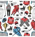 ice hockey sport game seamless pattern vector image vector image