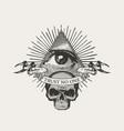 icon masonic symbol all-seeing eye vector image
