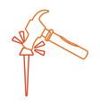 iron nail vector image vector image