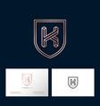 k letter monogram web business card vector image