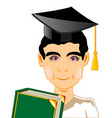 lad with textbook vector image vector image
