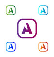 letter a abstract creative logo template vector image vector image