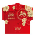 lunar new year money red packet ang pau design vector image