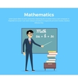 Mathematics Learning Concept vector image