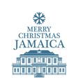 Merry Christmas Jamaica vector image vector image