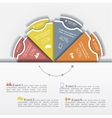 Modern business Infographics circle layout vector image