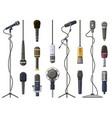 music microphones studio sound broadcast or vector image vector image