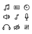 music set icons design vector image vector image