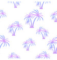 palm tree seamless summer pattern tropical vector image vector image