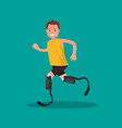 paralympic athlete vector image