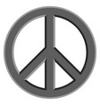 peace symbol icon vector image vector image