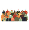 people group community portrait team standing vector image vector image