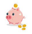 piggy bank flat icon isolated vector image vector image