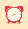 red analog alarm clock school supplies vector image vector image