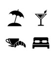 relaxation rest simple related icons vector image