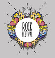 rock music festival event concert vector image vector image