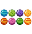 round beads in different design vector image vector image