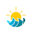 sea weather logo vector image vector image