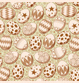 seamless pattern on brown easter egg background vector image vector image