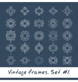 Set of round frames Nine decorative elements for vector image