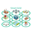 Smart grid diagram vector image vector image