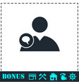 speaking people icon flat vector image vector image