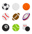 sport ball game basketball bowling football vector image