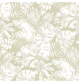tropical seamless pattern in natural gray color vector image vector image