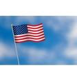 united states america flag on blue sky vector image