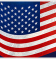 wavy american flag background vector image vector image