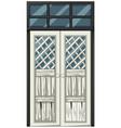white door in poor condition vector image vector image