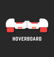 white hoverboard icon like toy vector image