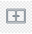 window concept linear icon isolated on vector image vector image