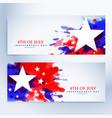 american grunge flag banners set vector image