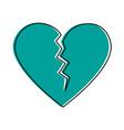 broken cartoon heart icon image vector image