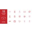 15 nurse icons vector image vector image