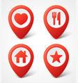 3d map pointer icons map markers set vector image vector image