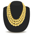 a gold feminine necklace made beads vector image vector image