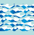 abstract concept sea waves seamless pattern vector image vector image